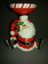 OCI  OMNIBUS 1986 Santa Claus Candle Holder Mini Dish Figurine