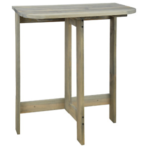 Wandklapptisch, Garden Console Table IN Country House Style, Wall Shabby Gray