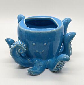 Bath & Body Works Blue Octopus Ceramic Soap Holder New