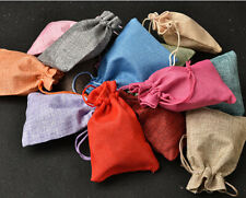 Lot 25/50pcs Wedding Hessian Burlap Jute Favour Love Gift Bags Drawstring Pouch
