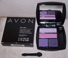 AVON! True Color Eyeshadow QUAD! PURPLE POP. Fabulous Fashionable Colors. NEW!