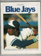 Toronto Blue Jays Scorebook Vs Cleveland Indians 1979 Vol.3 No.17 021921nonr