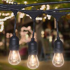 48ft Commercial Weatherproof Outdoor String Lights - Black
