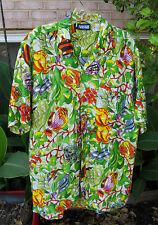 LAGUNA TROPICAL FISH or REEF Life (Aquarium) Short Sleeve LARGE Hawaiian Shirt