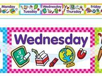 giorni della settimana Terrific Trimmers Classe Bacheca Display Bordi