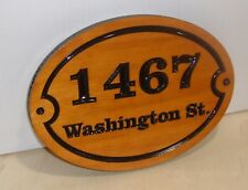 Personalized HOUSE STREET NUMBER V-carved WOOD SIGN.GIFT