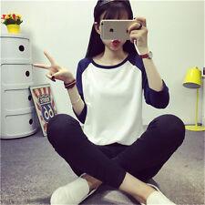 New Fashion Women Loose Long Sleeve Cotton Casual Blouse Shirt Tops T-shirt