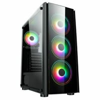 CiT Tornado Tempered Glass Mid Tower ATX Gaming PC Case with ARGB Led Ring...