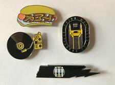 Third Man Records Nashville Exclusive Four Pin Lapel Set High Quality Enamel