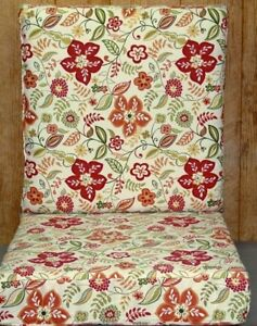 2 Pc Outdoor Deep Seat Chair Set ~ Pure Floral ~ 23.5x23.5x5.75 / 23.5x23.5x5.75