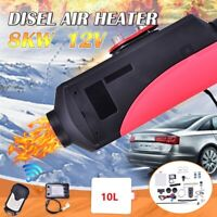 12V 8000W Air diesel Heater LCD Remote For Home Lorrys Boats Bus Van 8KW