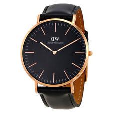 DANIEL WELLINGTON 40mm Rose Gold Classic Black Sheffield Men's Watch DW00100127