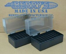 (2) 223 /.222 caliber New 50 Round Plastic Ammo Boxes (2- Pack Smoke / Black)