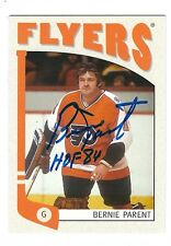 Autographed 2004-05 In the Game BERNIE PARENT Flyers Card #414 w/ Show Ticket