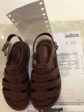New Mini Melissa toddler brown sandal shoes USA9 EUR 25/26 Brazil Boys Girls