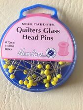 Glass Head Pins: Nickel - 45mm, 60pcs  - H703