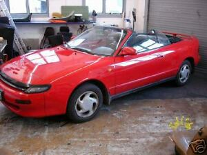 Toyota Celica Cabrio Convertible Roof Verdeck Bezug Montage Einbau Anleitung EBA