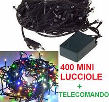 400 Lucciole multicolor.Luci natalizie albero Natale.Lampadine colorate colore