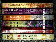 Hem Incense Floral Variety Combo 120 Sticks-6 Popular Flower Fragrances {:-) New