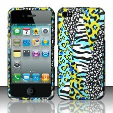 For Apple iPhone 4 4S Rubberized HARD Protector Case Phone Cover Teal Safari