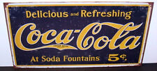 COCA COLA, 1910 LOGO, DELICIOUS AND REFRESHING METAL SIGN, DESPERATE IND, UNISEX