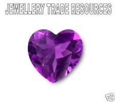 Natural Amethyst Heart Shape 7mm x 7mm Gem Gemstone