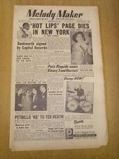 MELODY MAKER 1954 NOVEMBER 13 HOT LIPS PAGE JOHNNY DANKWORTH RINGSIDE CLUB PARIS