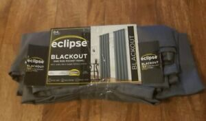 """84"""" X 42"""" Braxton Thermaback Blackout Curtain Panel - Gray - Eclipse"""