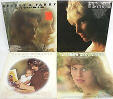 (Lot of 4) TAMMY WYNETTE 33 RPM Vinyl Records - (1970) with George Jones (1973)