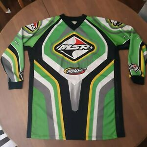 Vintage MSR Dirtbike Shirt Jersey Mens Medium RAGE Motocross Racing