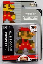 "World of Nintendo 2.5"" Action Figure - 8-Bit Mario Super Mario Bros. Series 1-5"