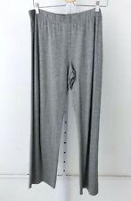 NWT HANRO Womens Pajama Pants Champagne Bottoms Elastic Waist Jersey Knit Gray M
