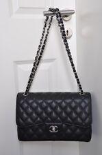 Original CHANEL Timeless Classic Bag JUMBO, 2.55 Tasche schwarz Kaviarleder, NEU