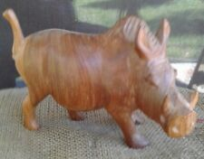 Wood  carving of Razorback hog In Beautiful Condition Check Photos.