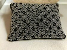 One Ralph Lauren PIERCE Beaded Deco Pillow ONYX Brand New Pristine  Black