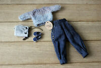 Blythe dolls clothes wool blouse Blythe pants Blythe footwear accesories