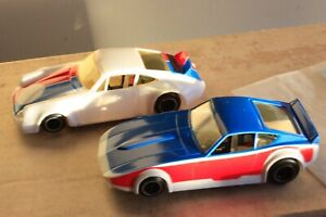COX SUPERSCALE PORSCHE & DATSUN 260Z W/Super-Tronic Control SLOT CARS & Decals