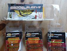 Paintball Set: 3 Eagle Burst Disks & Barrel Sleeve!