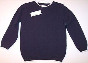 NWT Greendog Boys Navy Crewneck 100% Cotton Knit Sweater, 4/4T, $30