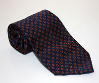 Brooks Brothers Navy Blue Silk Woven Tie Stirrups Saddle Pattern Made USA