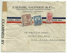 COVERS-COLOMBIA. 5/11/1931. Censored Airmail Cover to The United States.