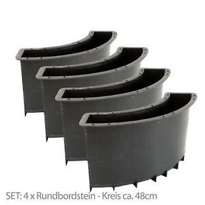 4x Gießform Schalungsform Betonform Rundbordsteine Randstein Umrandung Rund