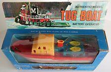 Vintage Tug Boat Battery Operated 1960's Plastic Torpedo Motor Motorized