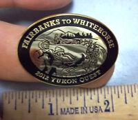 2012 Yukon Quest lapel Pin Dog Sled Race Whitehorse Yukon to Fairbanks Alaska