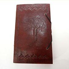 Lederbuch Kladde Notizbuch Tagebuch Buch Motiv Lebensbaum 3 Leder Knopf Indien