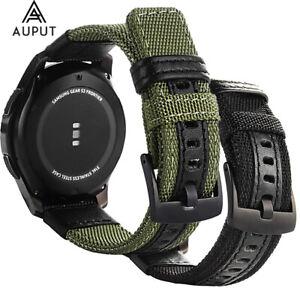 22mm Army Nylon Leder Ersatz Uhrenarmband Für Samsung Gear S3/Galaxy Watch 46mm