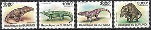 BURUNDI:2011 MNH WILDLIFE PREHISTORIC ANIMALS, DINOSAURS, REPTILES mr23