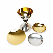 Sterling Silver & Gold Plated Chalice Set in wooden Box with 3 Patens