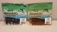 "LOT OF 2 Yamamoto Flappin Hog 3.75""  Crawdad Pumpkin / Watermelon FREE SHIPPING!"
