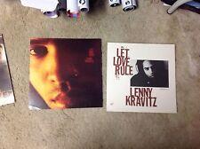 Rare! 2 LENNY KRAVITZ Promo POSTER 12x12 Collectible. Cd LP prince. MUSIC